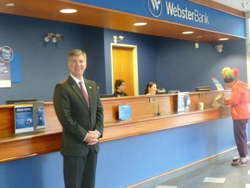 Robert Polito of Webster Bank anticipated a delay in processing applications and was prepared.