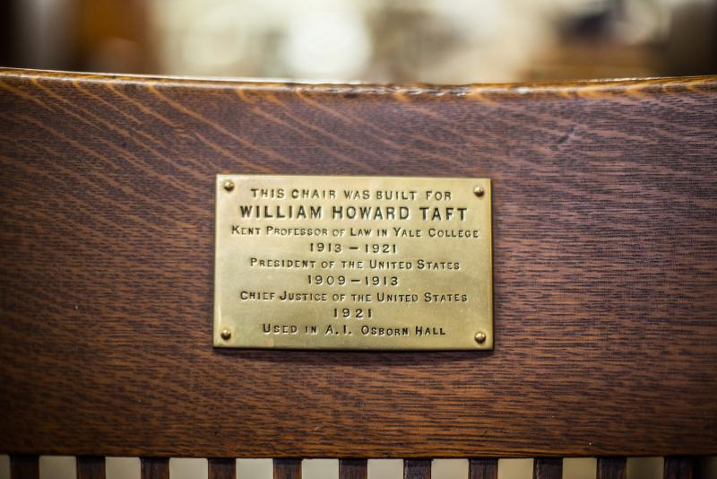 William Taft's custom-made chair, courtesy Yale University Art Gallery.