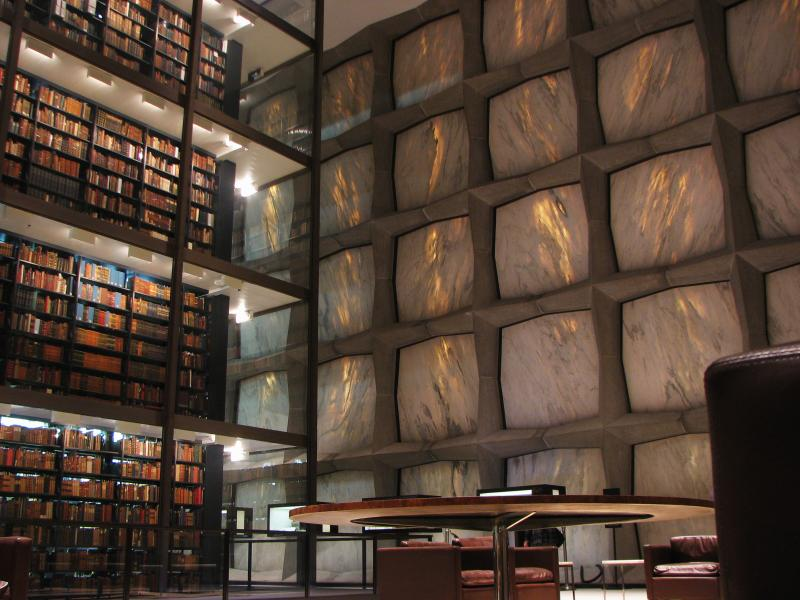 Yale's Beinecke Rare Book and Manuscript library opened it's doors 50 years ago.