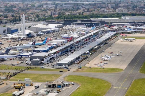 The Paris Air Show takes place at Le Bourget airport
