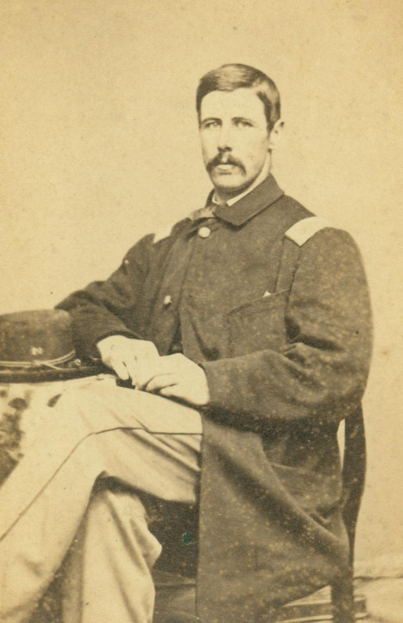 Lieutenant Edward A. Doolittle. Photograph by L. G. Steiger, ca. 1863. Doolittle served in Co. K, Twentieth Connecticut Infantry Regiment, during the Chattanooga campaign and died within a month of the battle.  The Connecticut Historical Society, 1992