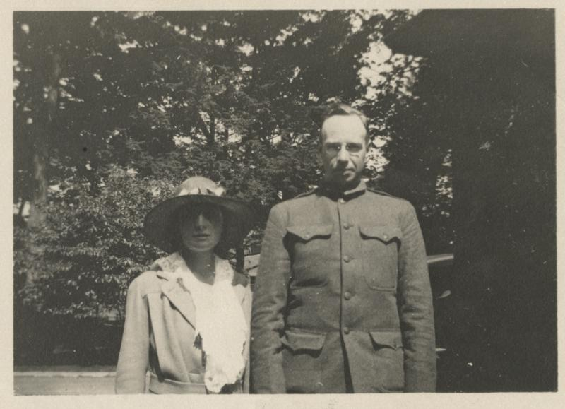 Emily and William Hamersley.  Photograph, 1918.  Bill Hamersley of Hartford died of influenza at Camp Devens, Massachusetts during the 1918 pandemic.  The Connecticut Historical Society, 2011.63.162, Gift of Elizabeth W. Temple
