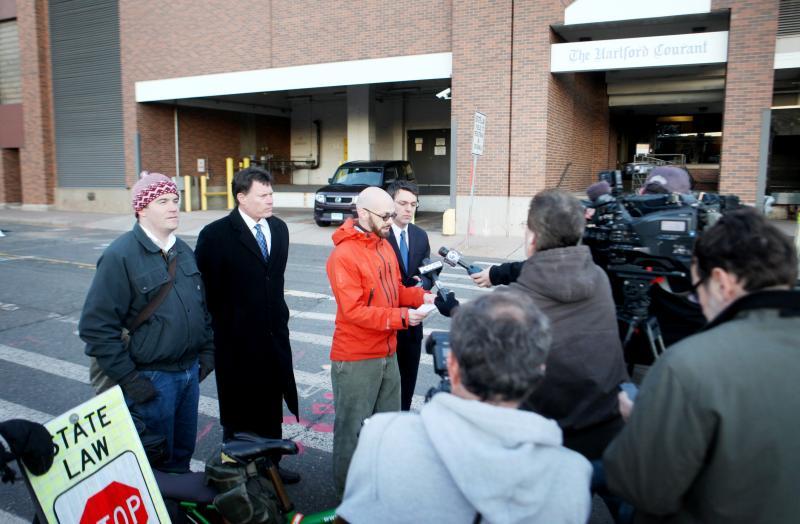 Joshua LaPorte, CT State Senator John Fonfara, Christopher Brown, and Attorney Ken Krayeske.