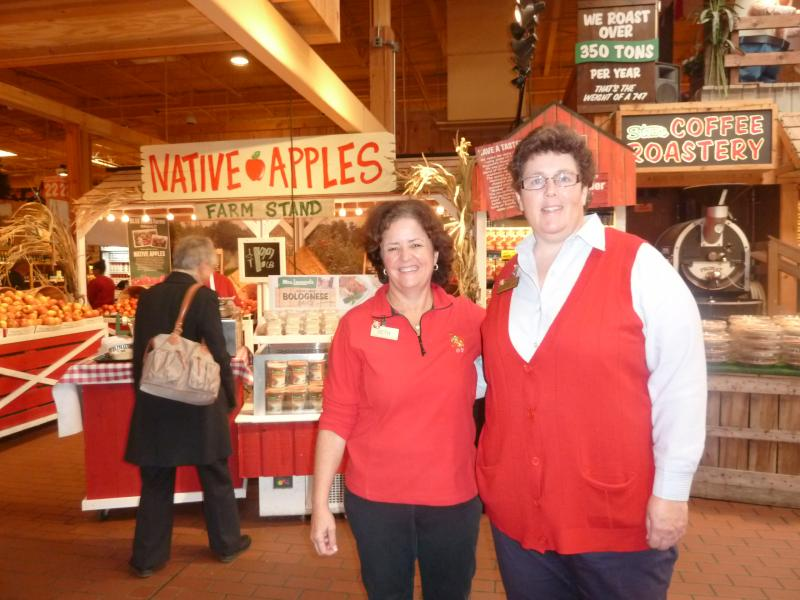 Barbara Bucknam of Stew Leonard's (at right), with Beth Leonard Hollis, said the group is making strides in eliminating trans fats in in-house foods.