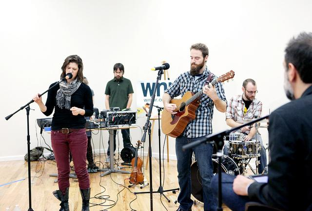 Little Ugly performing on WNPR's Where We Live.