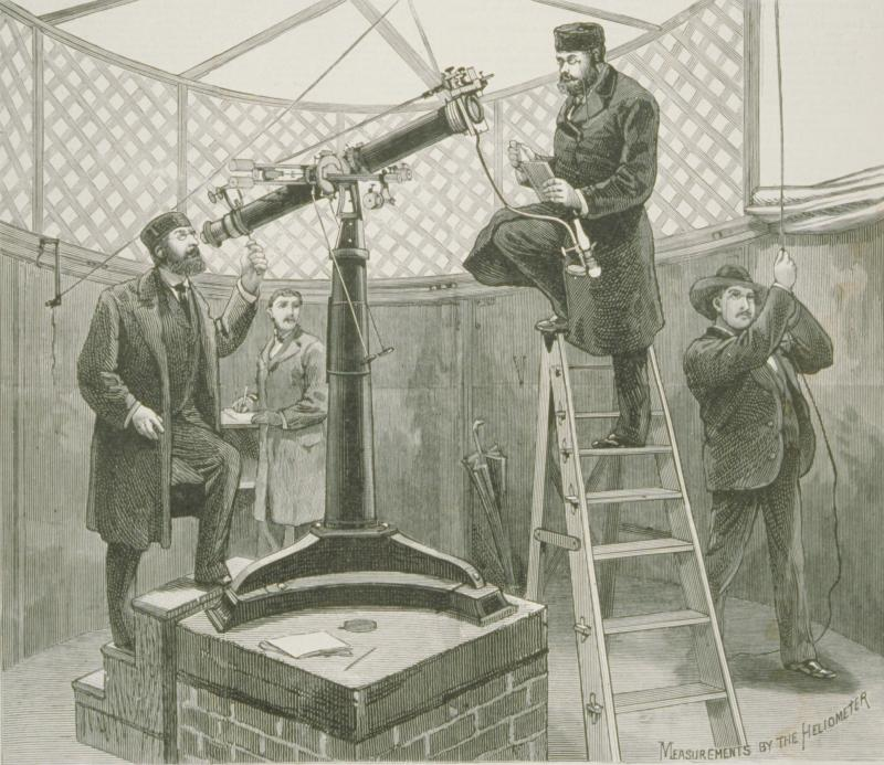 The four members of the German scientific expedition to Hartford: Dr. Gustav Mueller of the Astro-Physical Observatory at Potsdam; Dr. Fritz Deichmueller of the University-Observatory at Bonn; Mr. Julius Bauschinger, scientific assistant; and Mr. Hermann