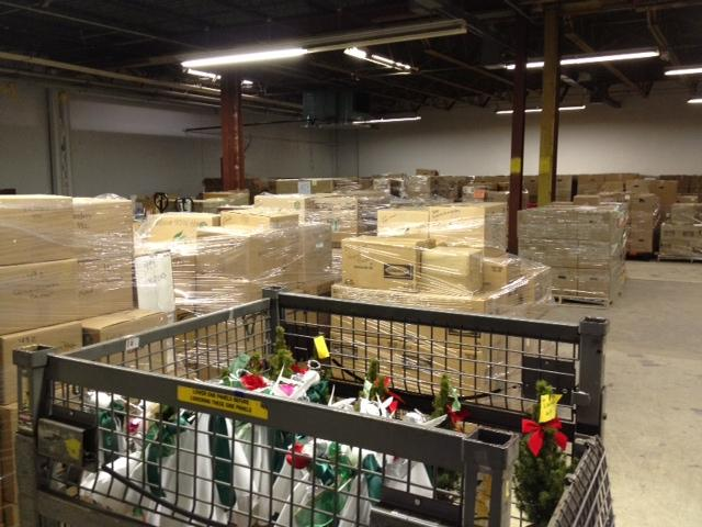 Boxes of gifts sent to Newtown.
