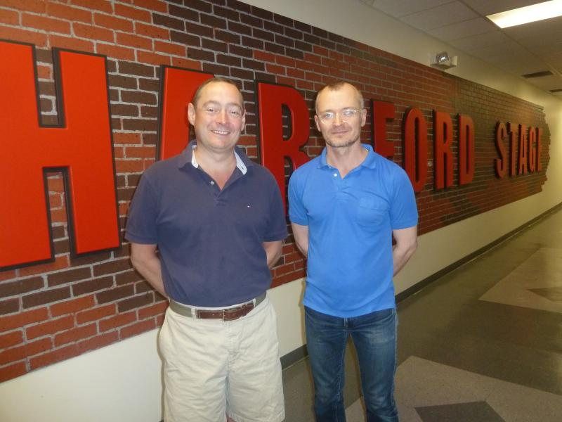 Hartford Stage's Michael Stotts, managing director, left, with Darko Tresnjak, artistic director.