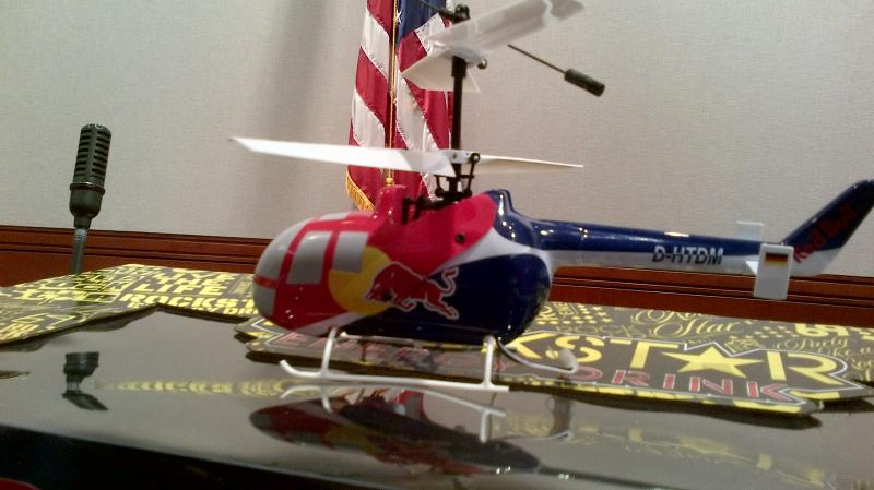 The Red Bull RC Helicopter.
