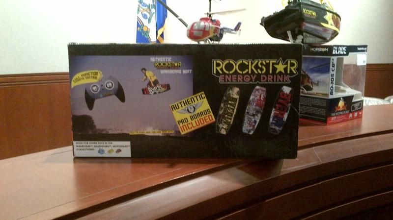 The Rockstar Energy Drink RC Boat has pictures of Rockstar Energy drinks on the box. U.S. Senator Richard Blumenthal says  this breaks a promise by Rockstar to stop marketing to children under the age of 12.