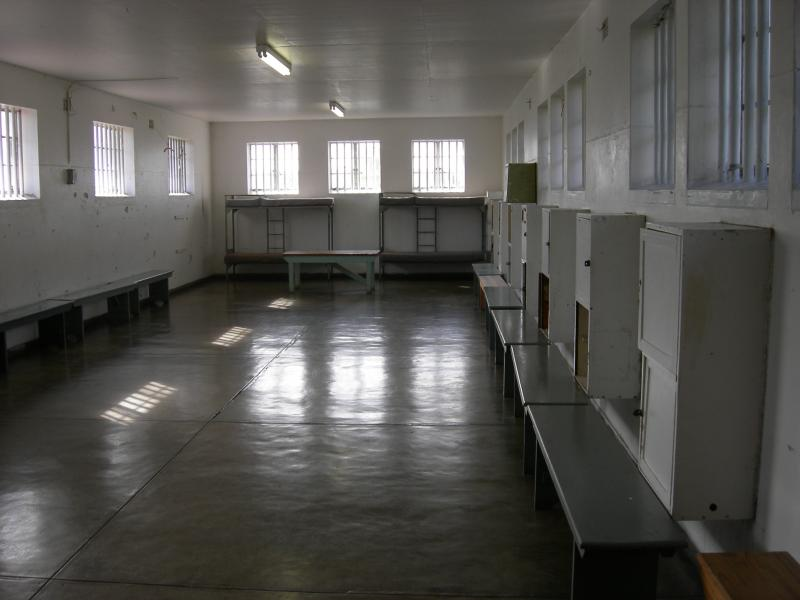 Bunks at Robben Island.