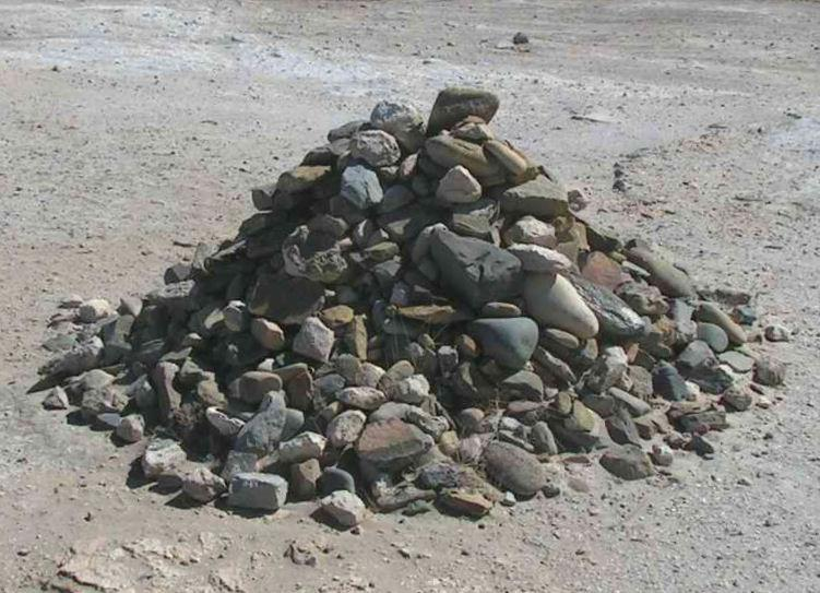 A pile of rocks at Robben Island.