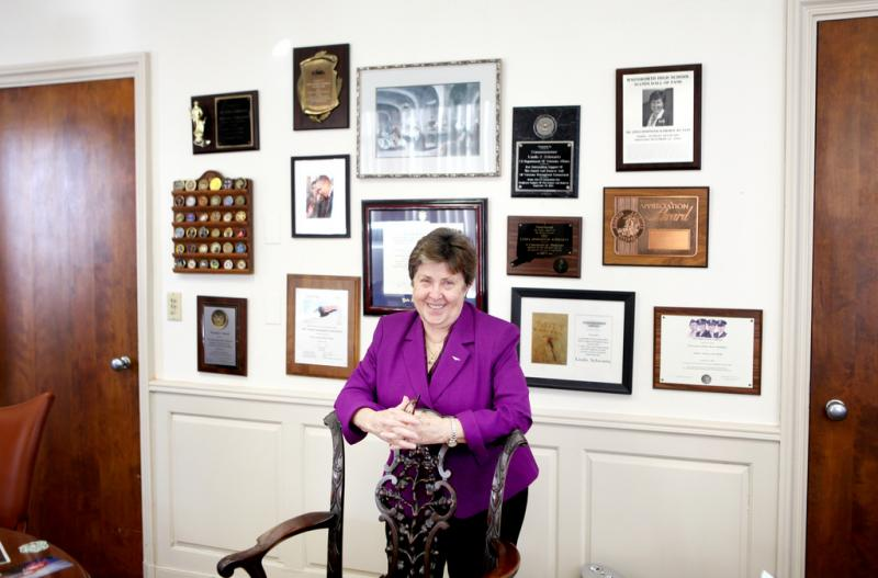 Linda Schwartz in her Rocky Hill office