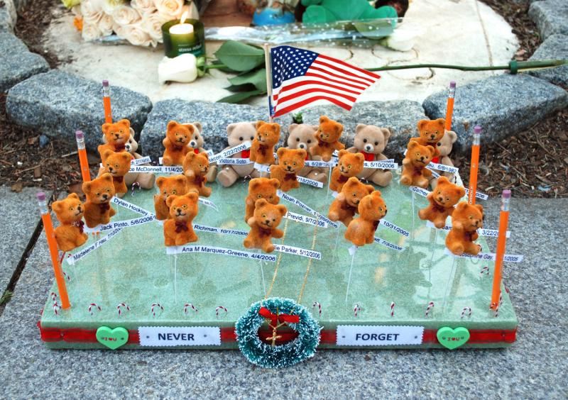 A teddy bear Newtown tribute.