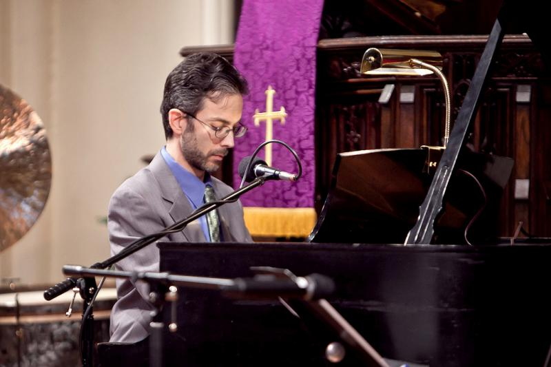 "Noah Baerman performing ""This Little Light of Mine,"" at Asylum Hill Congregational Church in Hartford, CT."