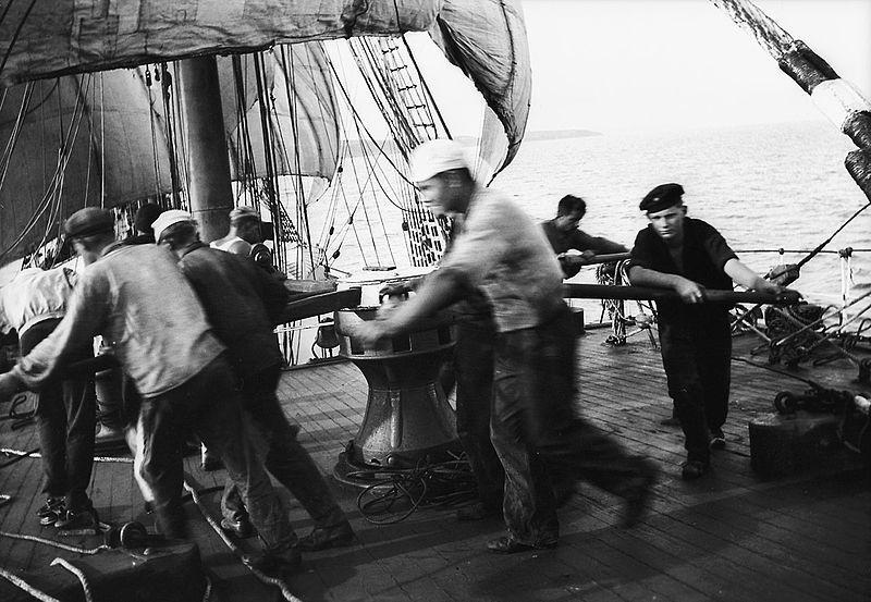 Sea Chanties were work songs sung by sailors.