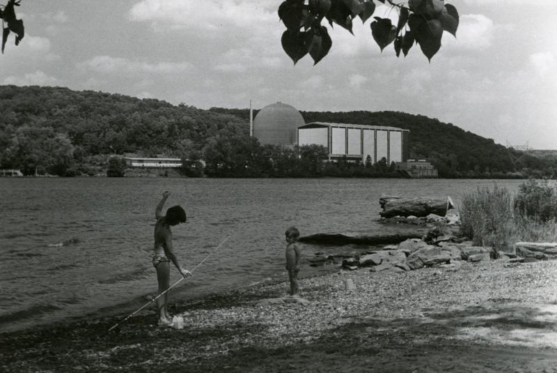 View of Connecticut Yankee Atomic Power Company, Haddam Neck. Photograph, ca. 1968.