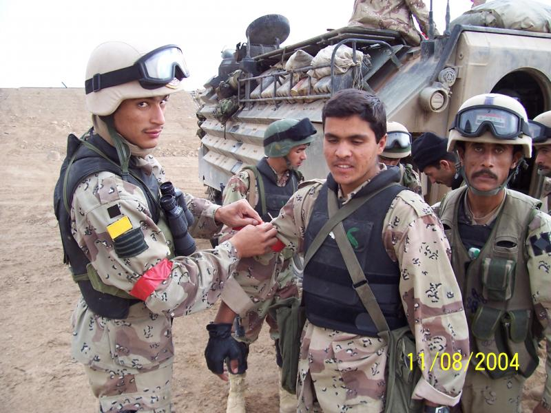 Iraqi Army battalion members in 2004.