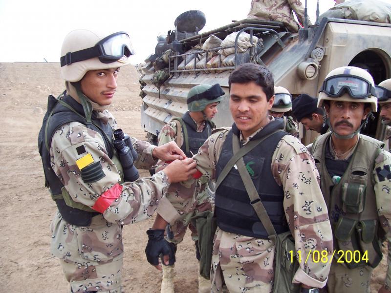 Iraqi Army battalion members in 2004.
