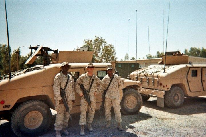Corporal Gulaid Ismail in Fallujah.