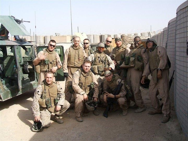 Corporal Gulaid Ismail with his unit in Fallujah, 2006.