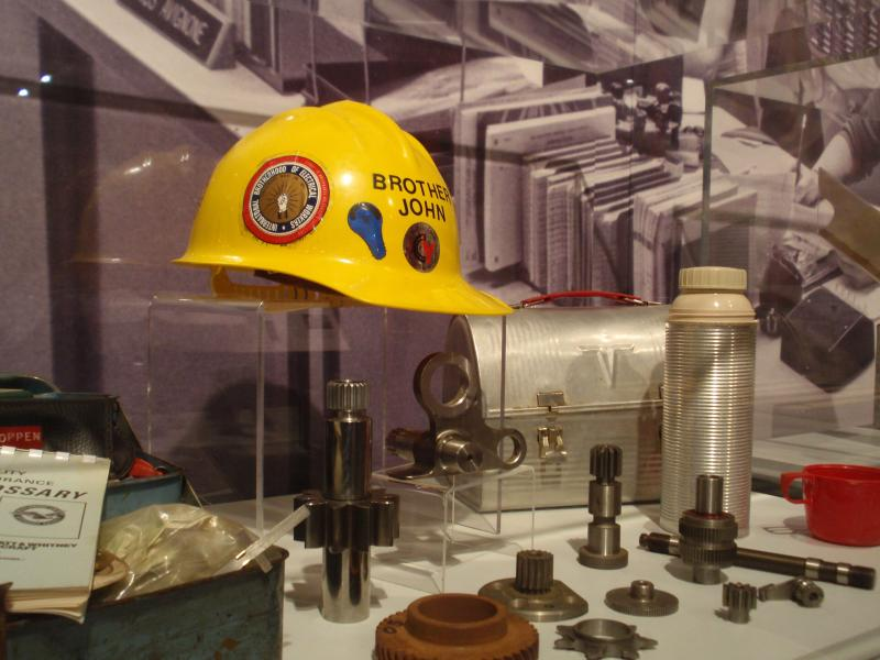 Hard hat used at Connecticut Yankee during the 1980s, now on display in the Connecticut Historical Society's permanent exhibit, Making Connecticut.