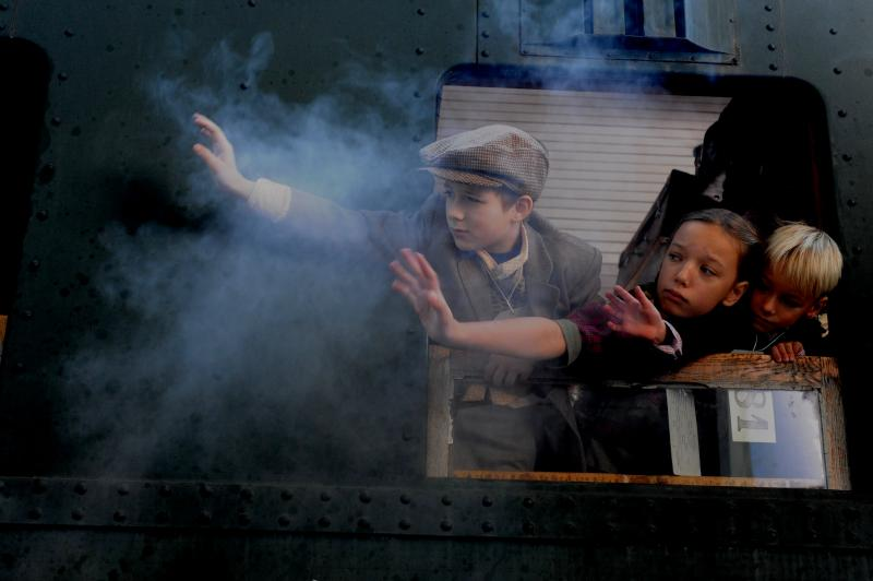 "A new film, ""Nicky's Family,"" portrays children leaving their families behind in Prague via train."