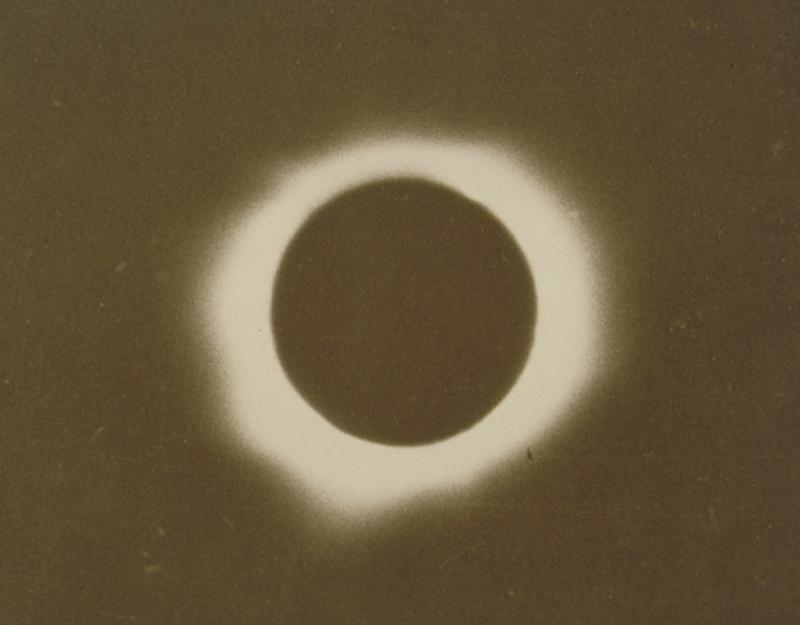 Total Eclipse of the Sun, January 24, 1925. Turner took his photograph at 175 North Street in Willimantic.