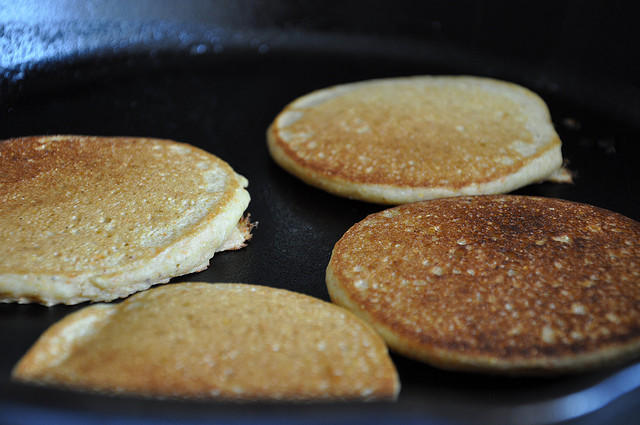 Easy Dinner: Shrimp and Bacon on Buttermilk Corn Pancakes | WNPR News