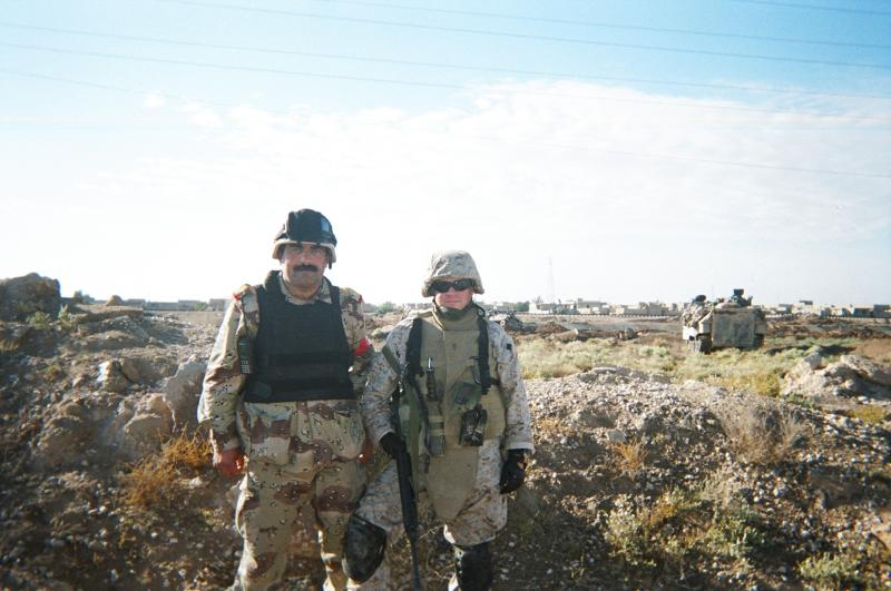Retired Lieutenant Colonel Michael Zacchea in Fallujah, 2004.