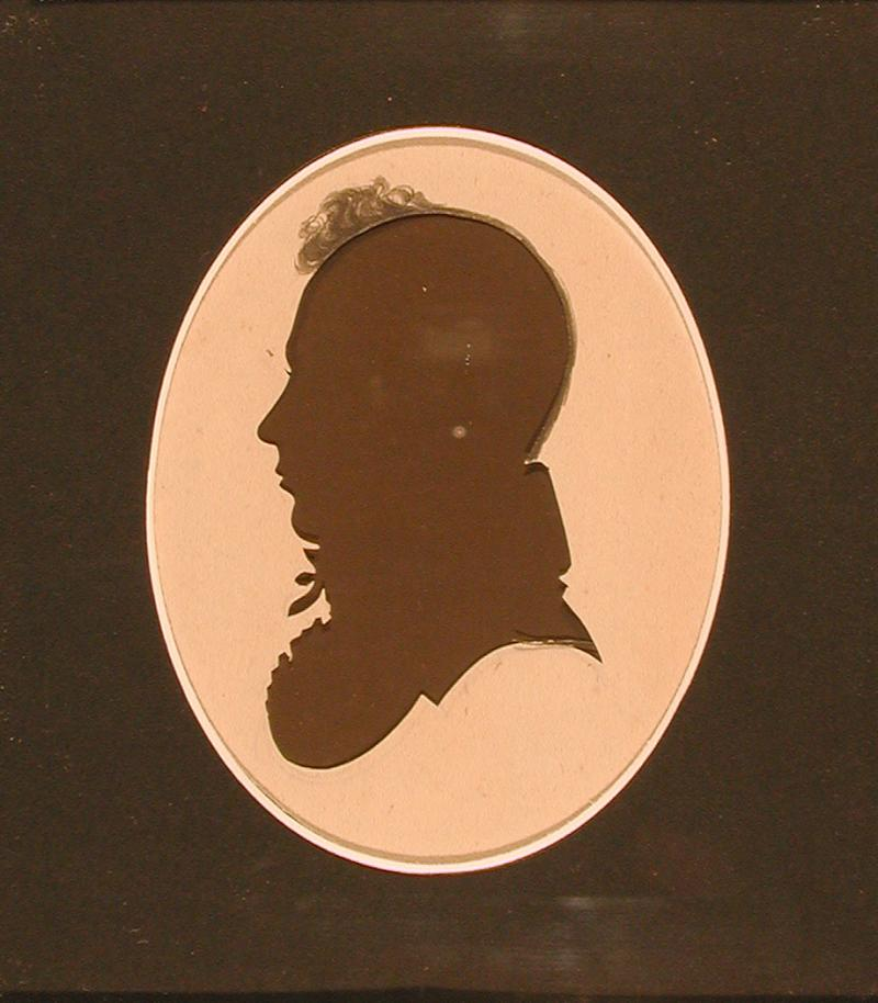 Joseph Morgan.  Silhouette cut by Peter Choice, ca.  1817.  Morgan and his family moved to Hartford from Springfield in 1817.
