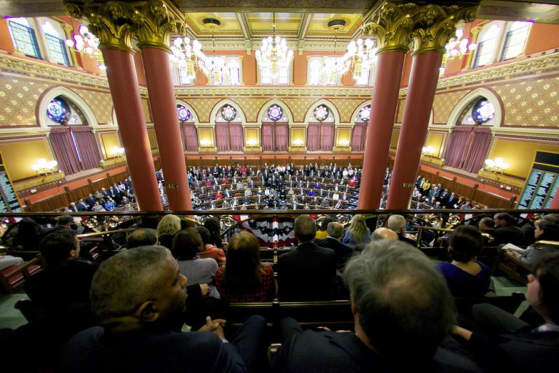 The Connecticut General Assembly from the balcony (file photo).