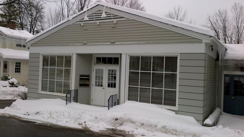 Peter May, owner of The Village Store, hopes to convert this empty bank adjacent to The Village Store into a restaurant that serves alcohol. The discovery of an old blue law has thrown a wrench in his plans.