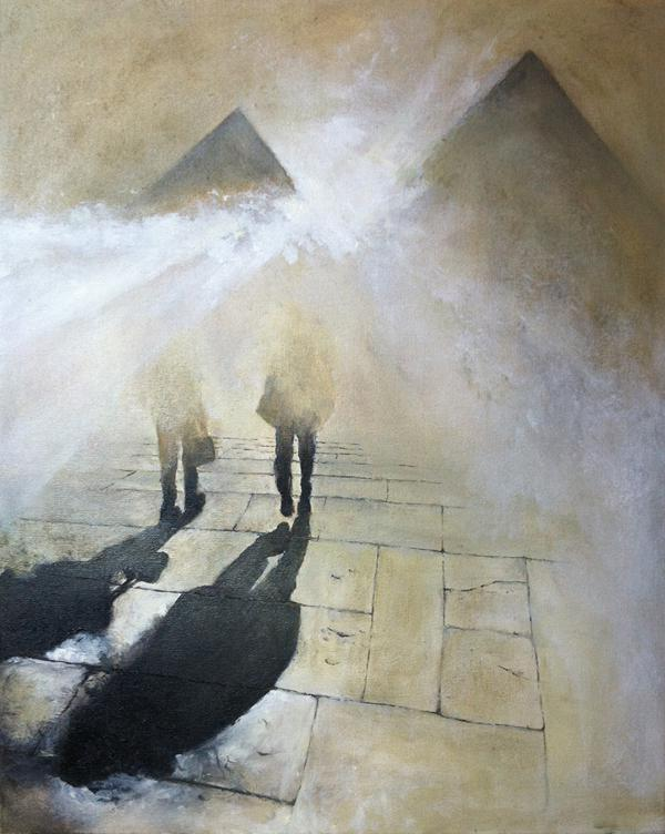 Nick Robinson, Steps and Shadows, oil & acrylic on canvas