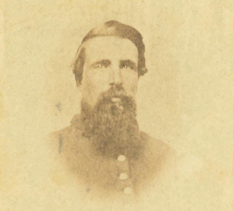 Sergeant Aretus Culver, 16th Connecticut Infantry. Photograph by William A. Terry, ca. 1862.  The Bristol native died within six weeks of his release from Andersonville.