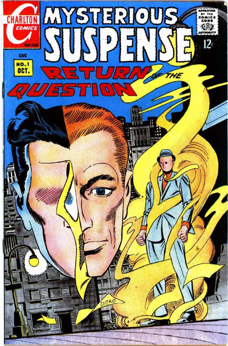 The premier Charlton superheroes including Mysterious Suspense were drawn by the innovative Steve Ditko, co-creator and original artist of Marvel's Spider-Man and Dr. Strange. They were adapted into DC's Watchmen graphic novel and film.