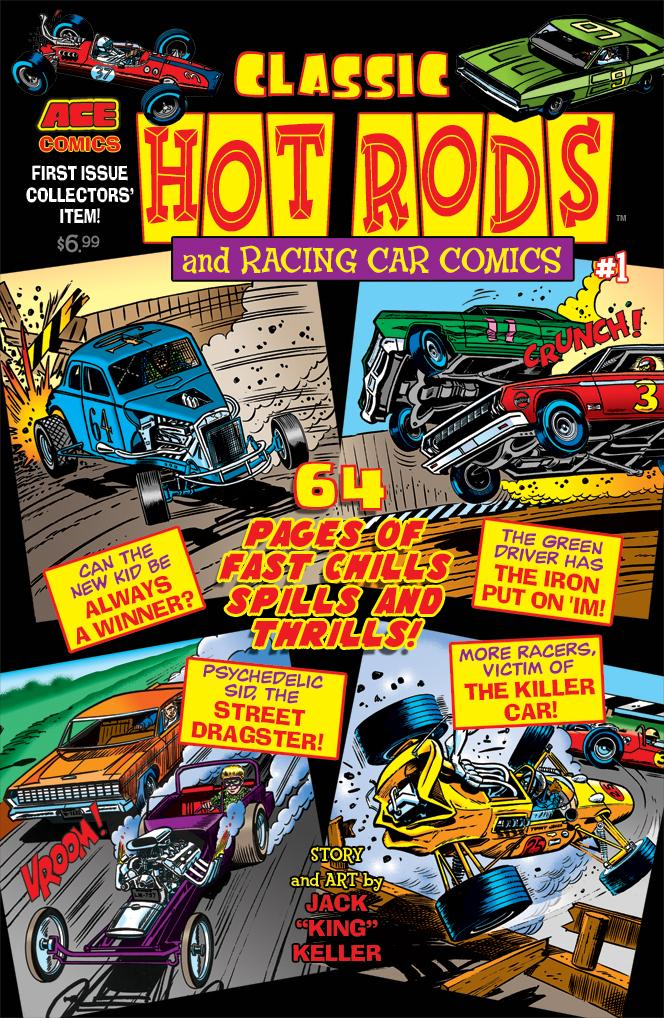 Cover for the revived Classic Hot Rods. Art by Jack Keller.