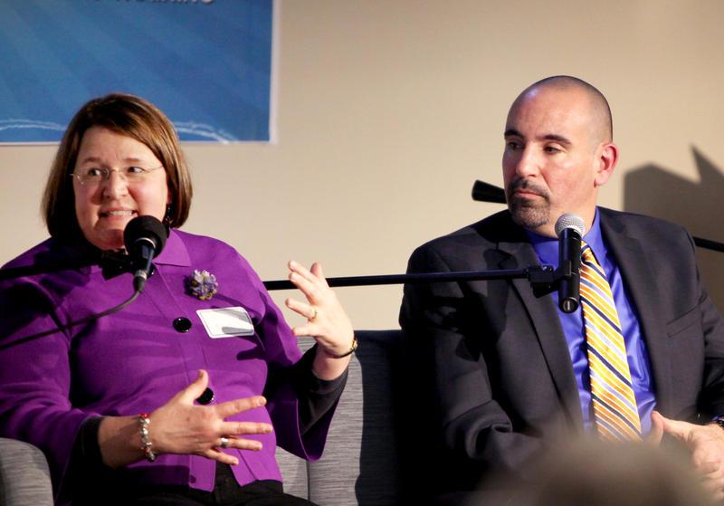 Liz Natale from West Hartford Public Schools and David Bosso from Berlin Public Schools.