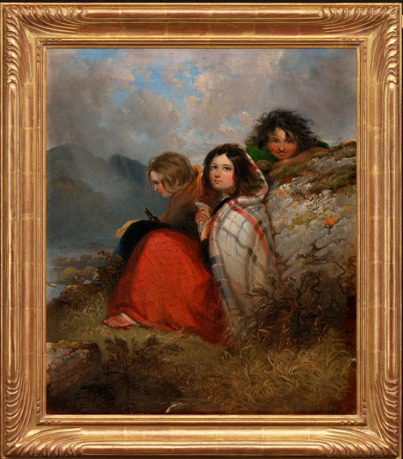 Irish Peasant Children, Daniel McDonald (1847)