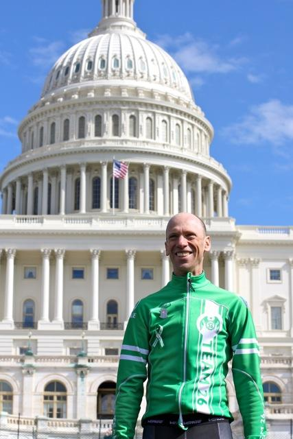 Monte Frank is the founder of Team 26. This is their second Sandy Hook Ride on Washington.