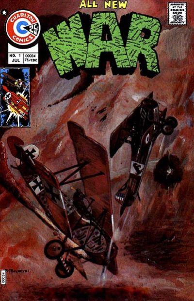 Charlton had numerous war titles, including the aptly named War. Painted cover by Pat Boyette.