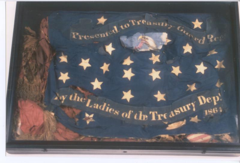 The Treasury Guard Regiment flag spent over a century in this display box.
