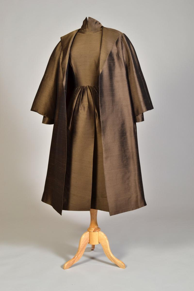 Ensemble worn by Katharine Hepburn, designed by Norman Hartnell, 1959.