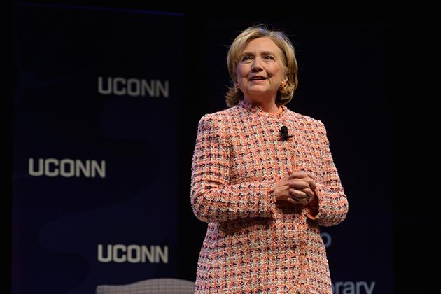 Hillary Clinton spoke at UConn's Edmund Fusco Contemporary Issues Forum on Wednesday evening.