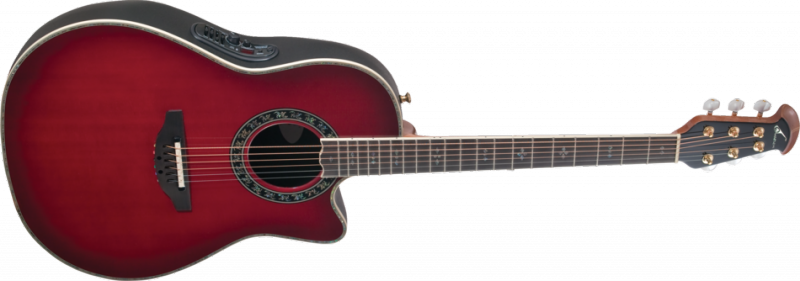 Ovation's Custom Legend AX guitar, with a solid spruce top.