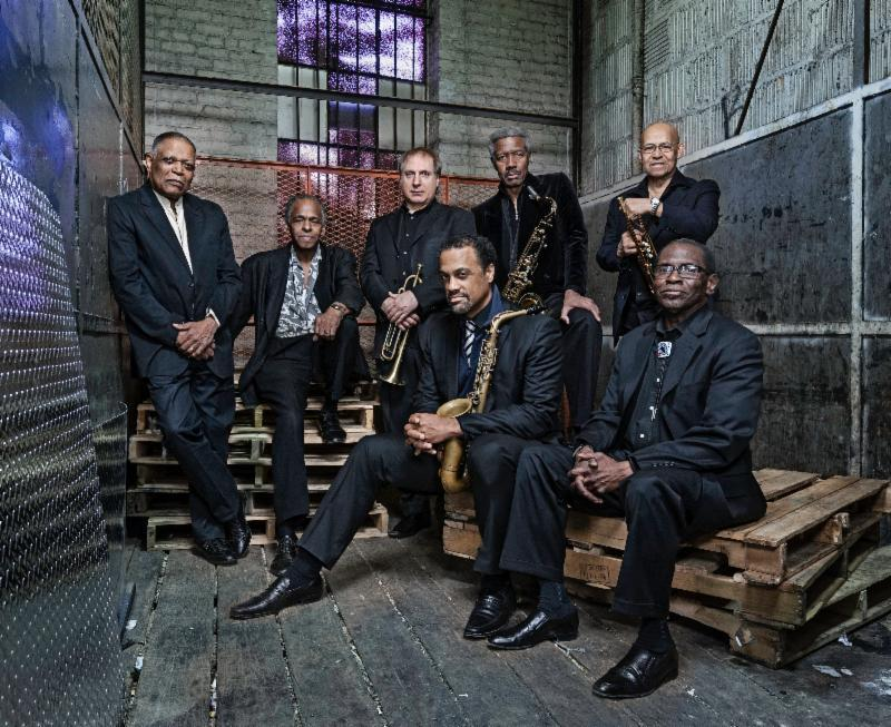The Cookers, including Billy Harper, Cecil McBee, George Cables, Eddie Henderson, and Billy Hart.