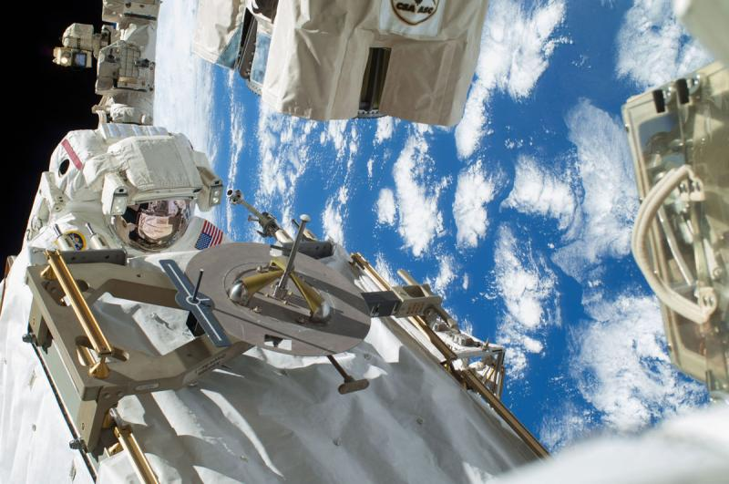 In December Rick Mastracchio, above, completed two spacewalks to repair the ISS.