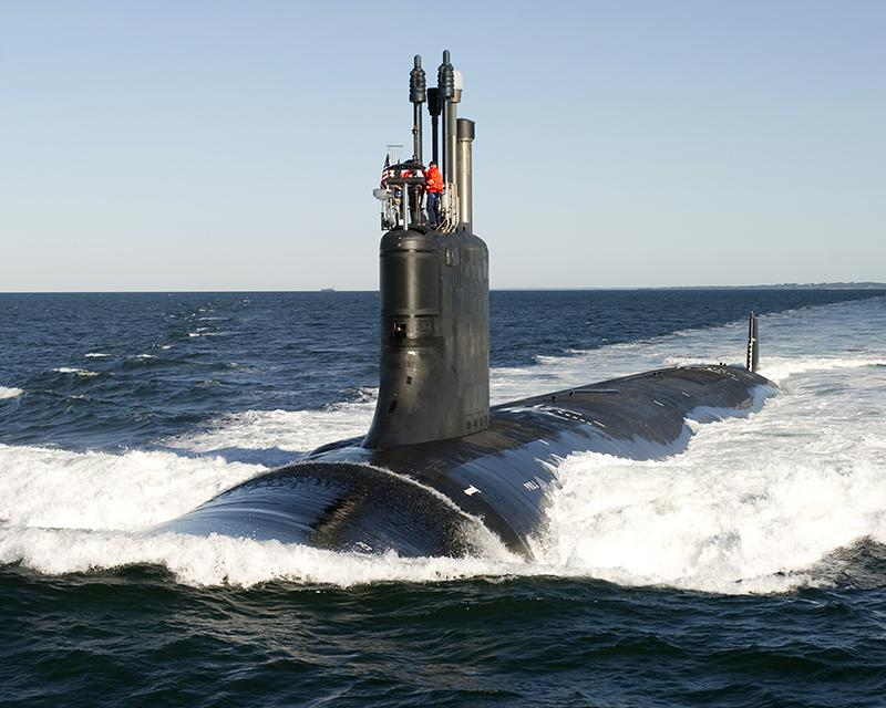 A Virginia Class submarine built by Groton's Electric Boat.