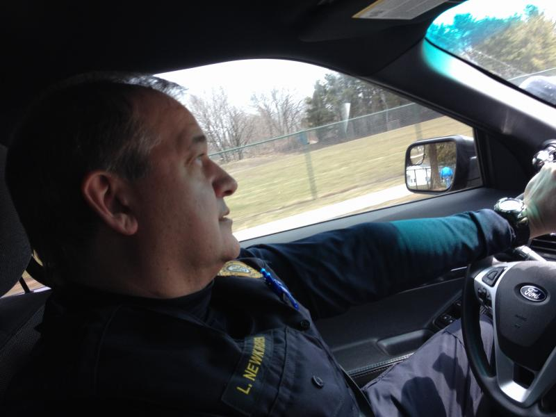 Fairfield Officer Lance Newkirchen on his way to visit the family of a man who, two days earlier, considered suicide.