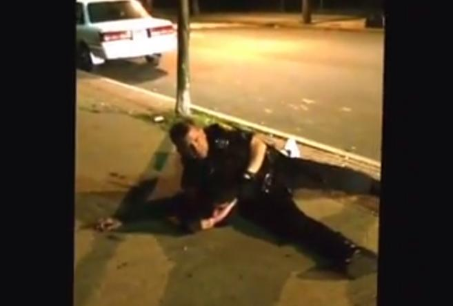 A Bridgeport police officer was captured on video striking a teen while on the ground on Stratford Avenue.